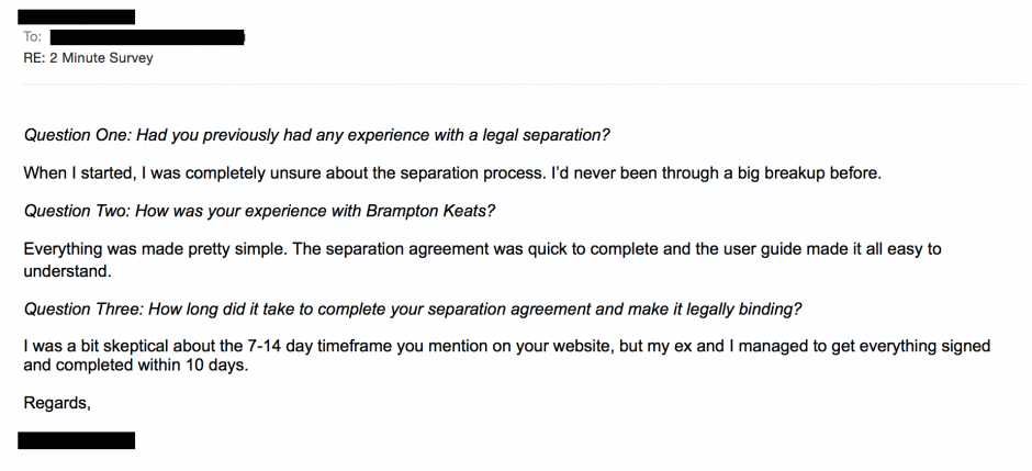 Template For Separation Agreement